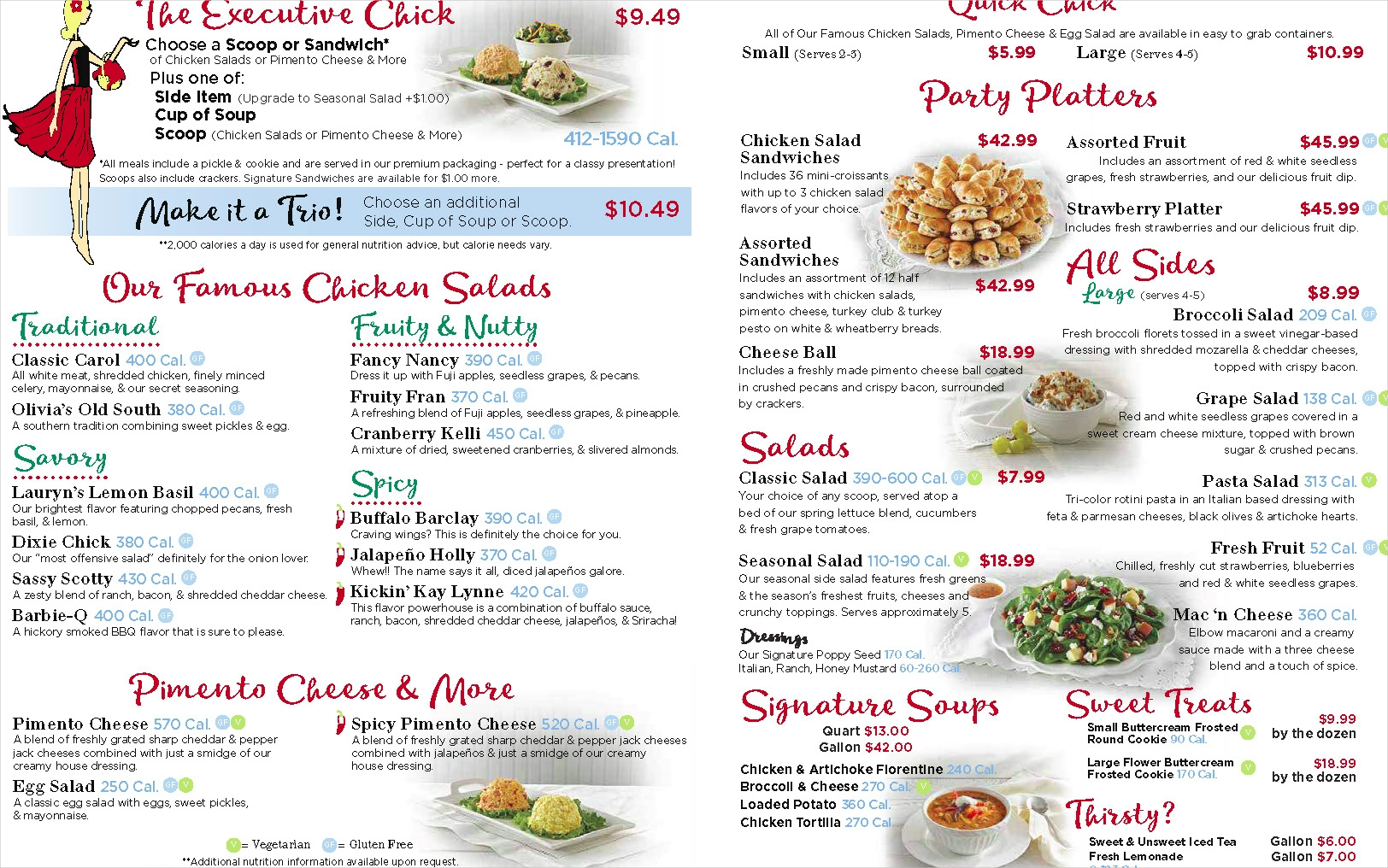 salad menu sample