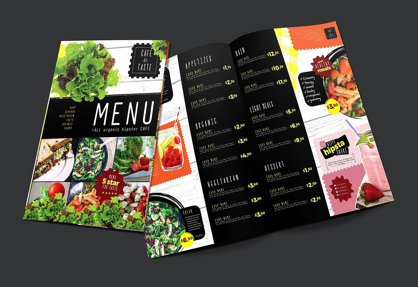 salad restaurant menu