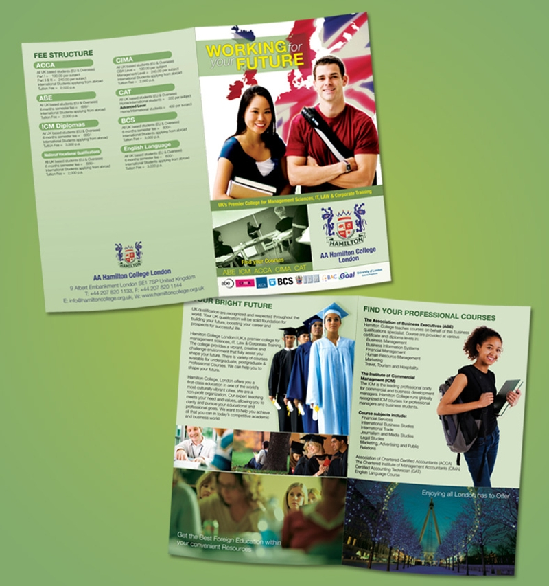 sample college brochure