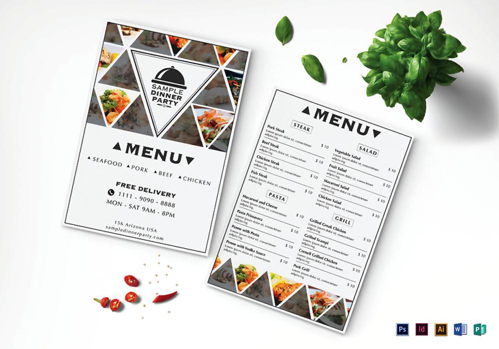 sample dinner menu mock up 767x537