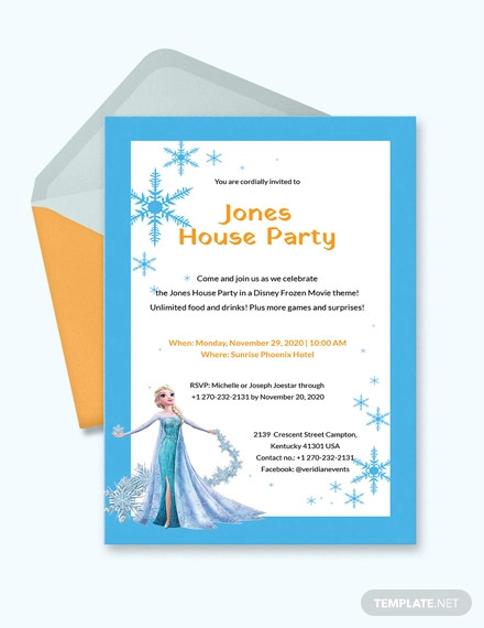 sample frozen party invitation