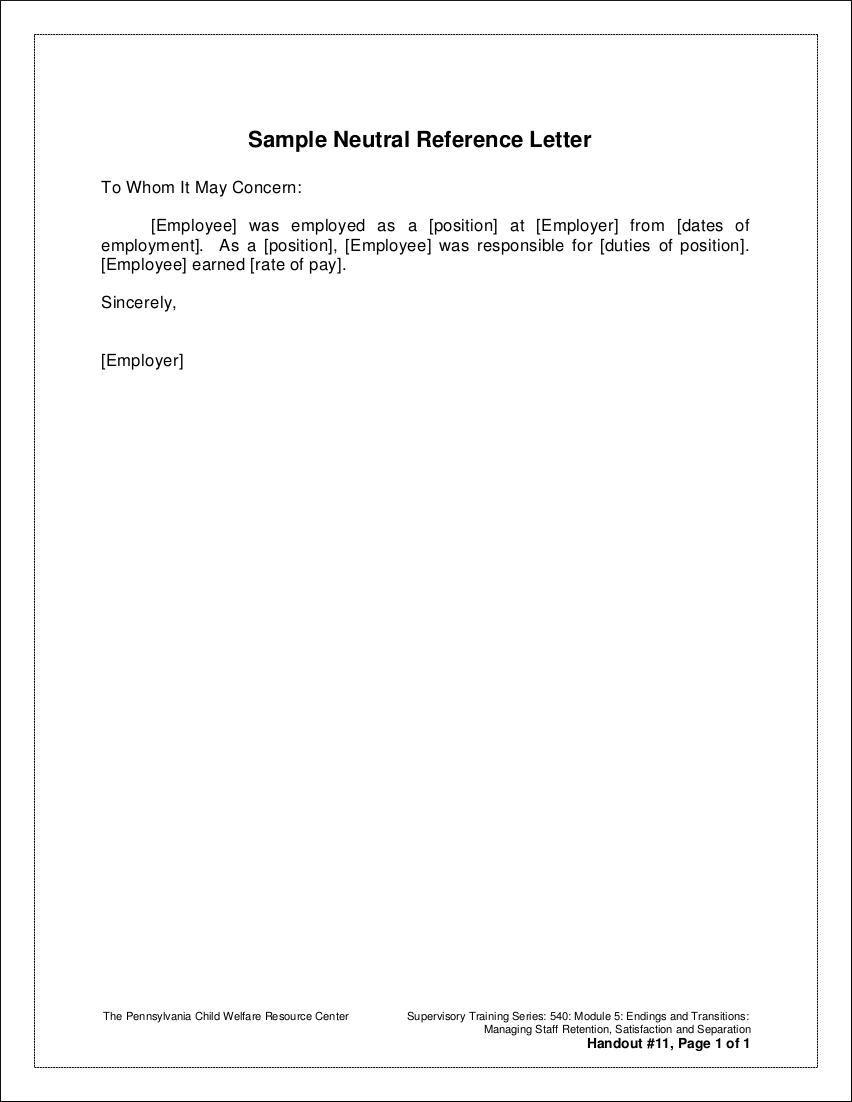 Cover Letter After Being Laid Off Of Recommendation