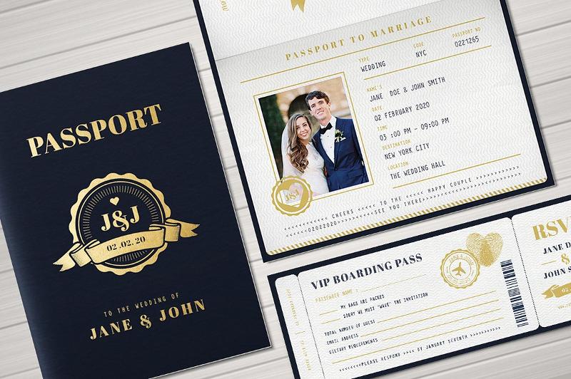 sample passport wedding invitation1