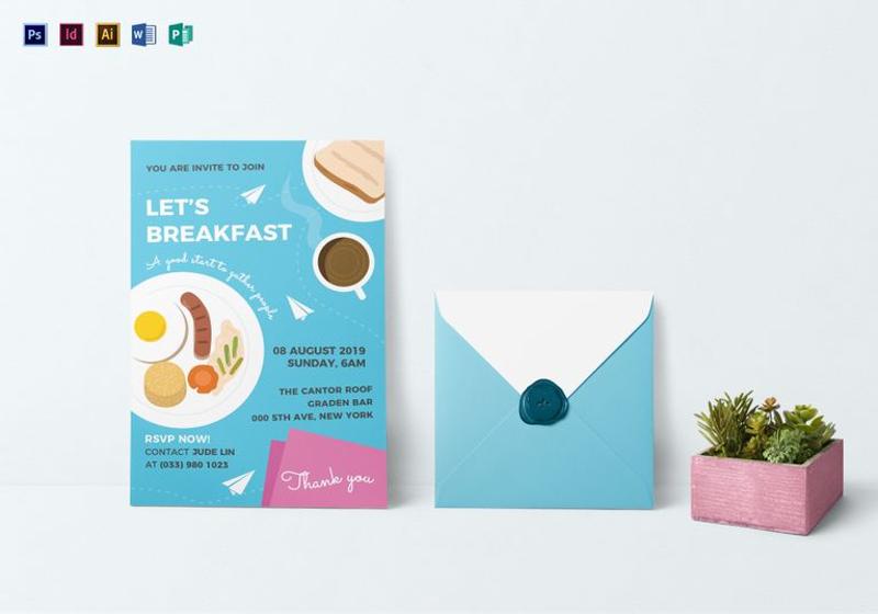sample personalized breakfast invitation template