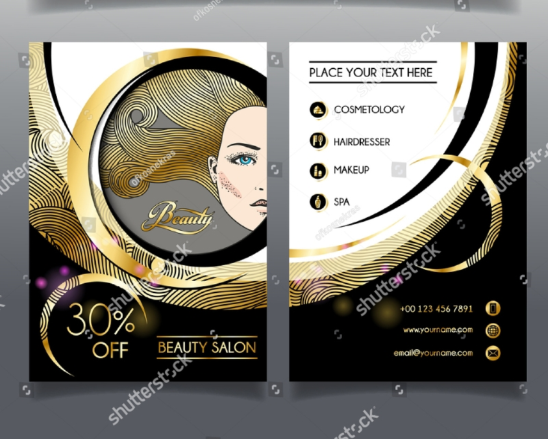 sample salon brochure