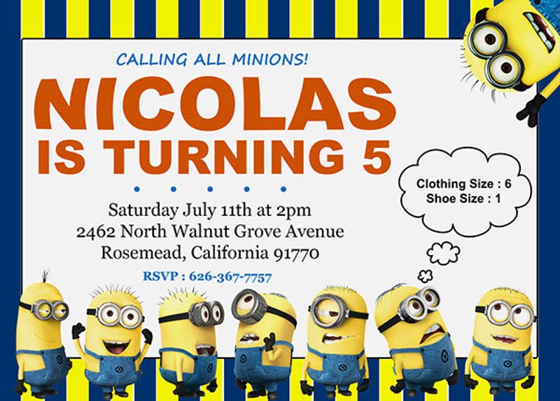 18 Minions Birthday Invitation Designs And Examples PSD AI