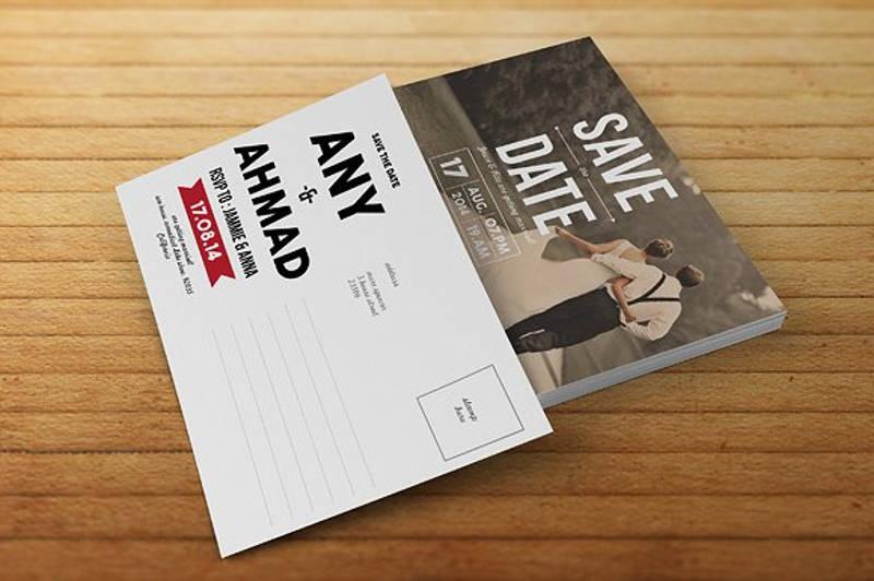 save the date rsvp invitation card