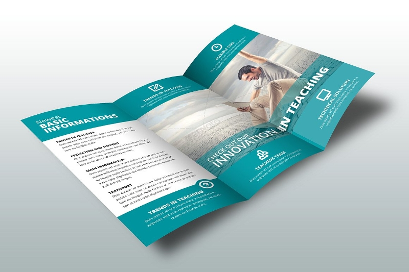 school indesign brochure template