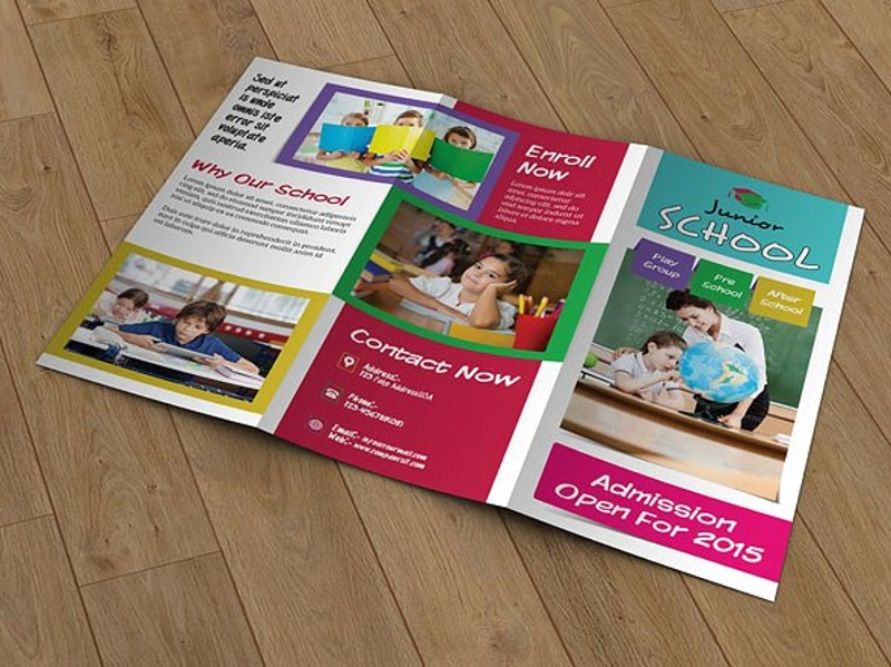 school trifold brochure