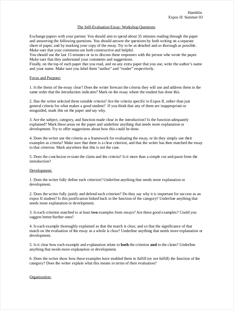 evaluate essay example Take a look at these real examples of critical essays written by students at  sussex (to view each essay click on the essay image) think about what we have .
