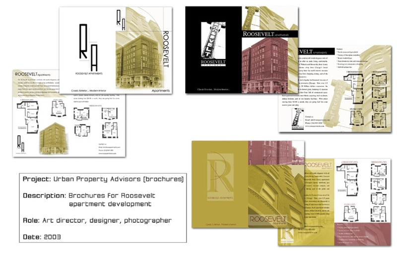 simple apartment brochure
