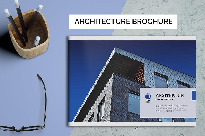simple architecture brochure