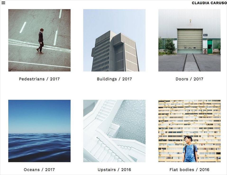 simple artist portfolio