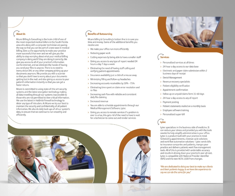 simple consulting brochure
