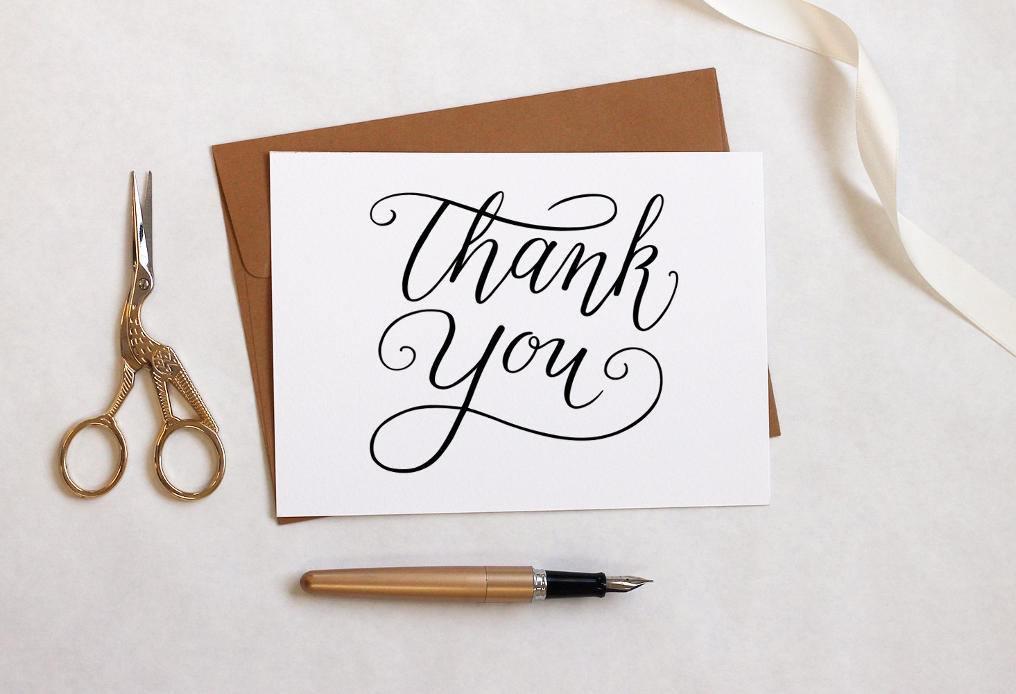 simple diy thank you card