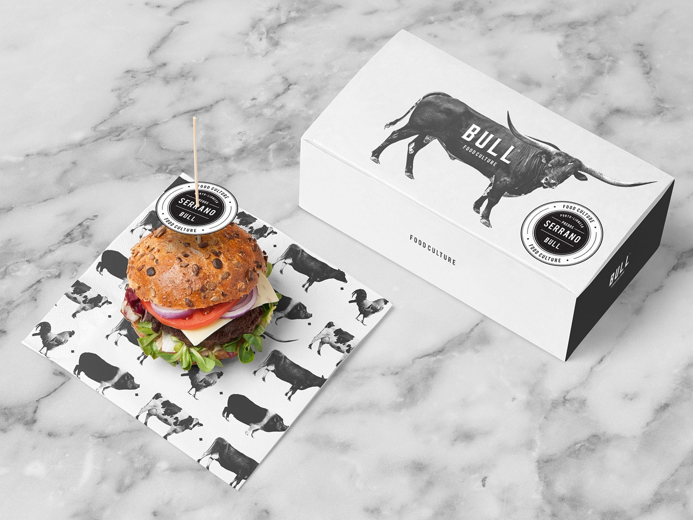 Simple Fast Food Branding