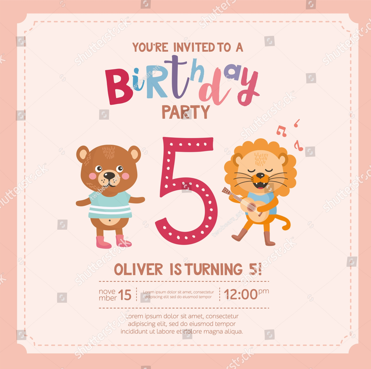 simple funny birthday invitation