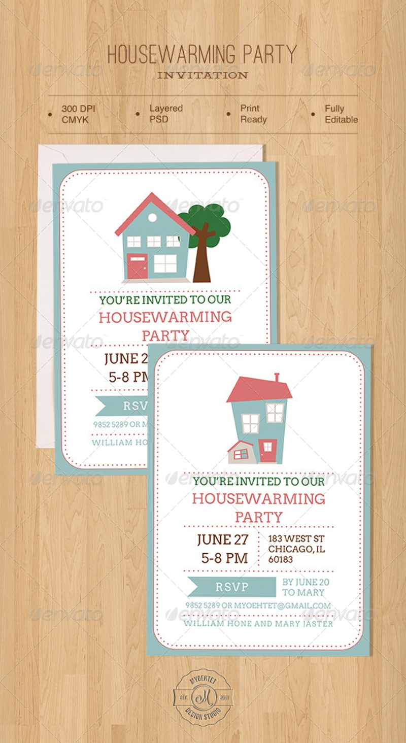 simple housewarming party invitation