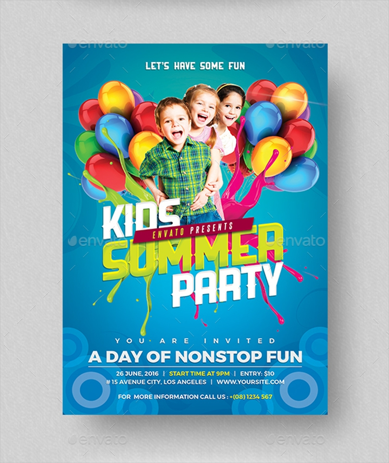 simple kids birthday party invitation