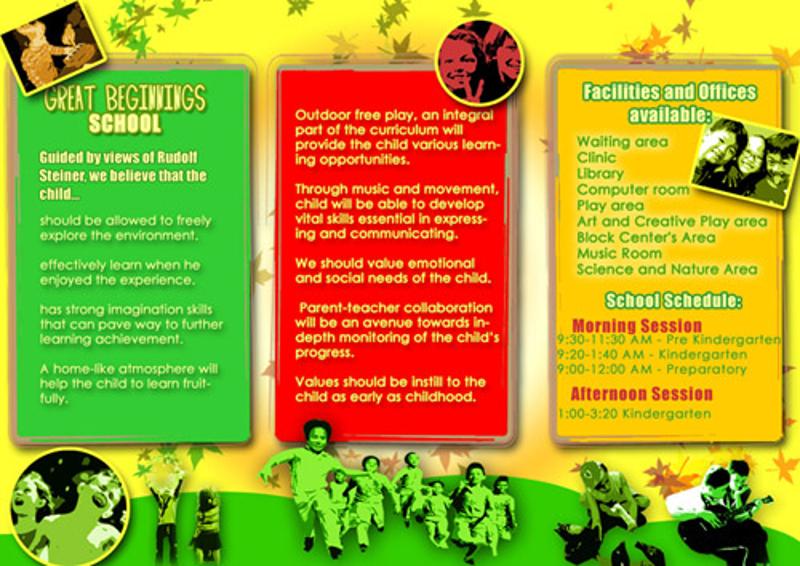 simple kindergarten brochure
