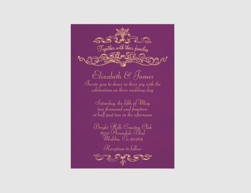 simple luxury wedding invitations