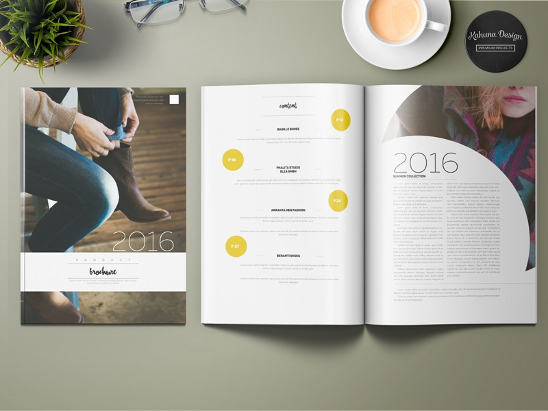 simple product brochure design