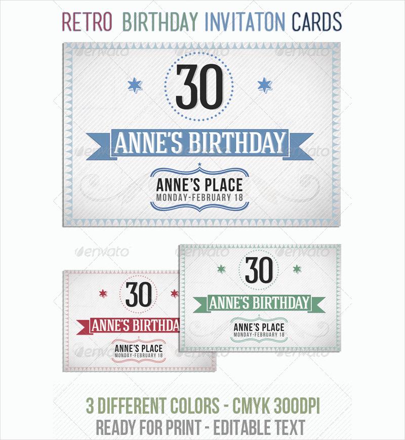 Free 14 Retro Birthday Invitation Designs Examples In Psd