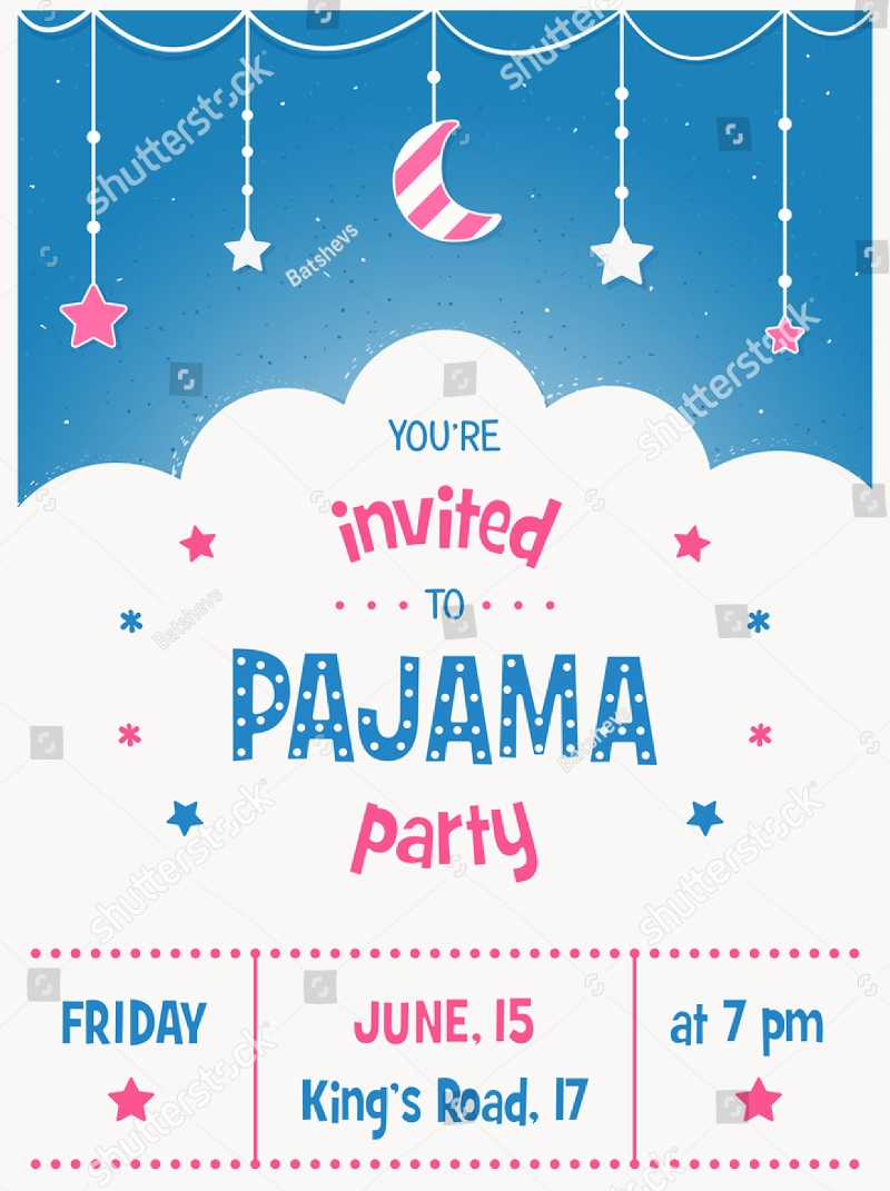 simple sleepover party invitation