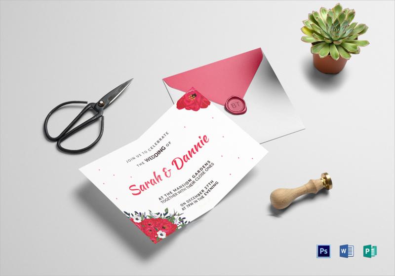 simple wedding invitation card template