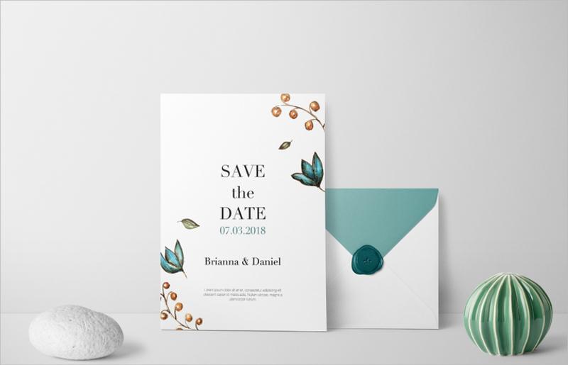 simple wedding invitation2