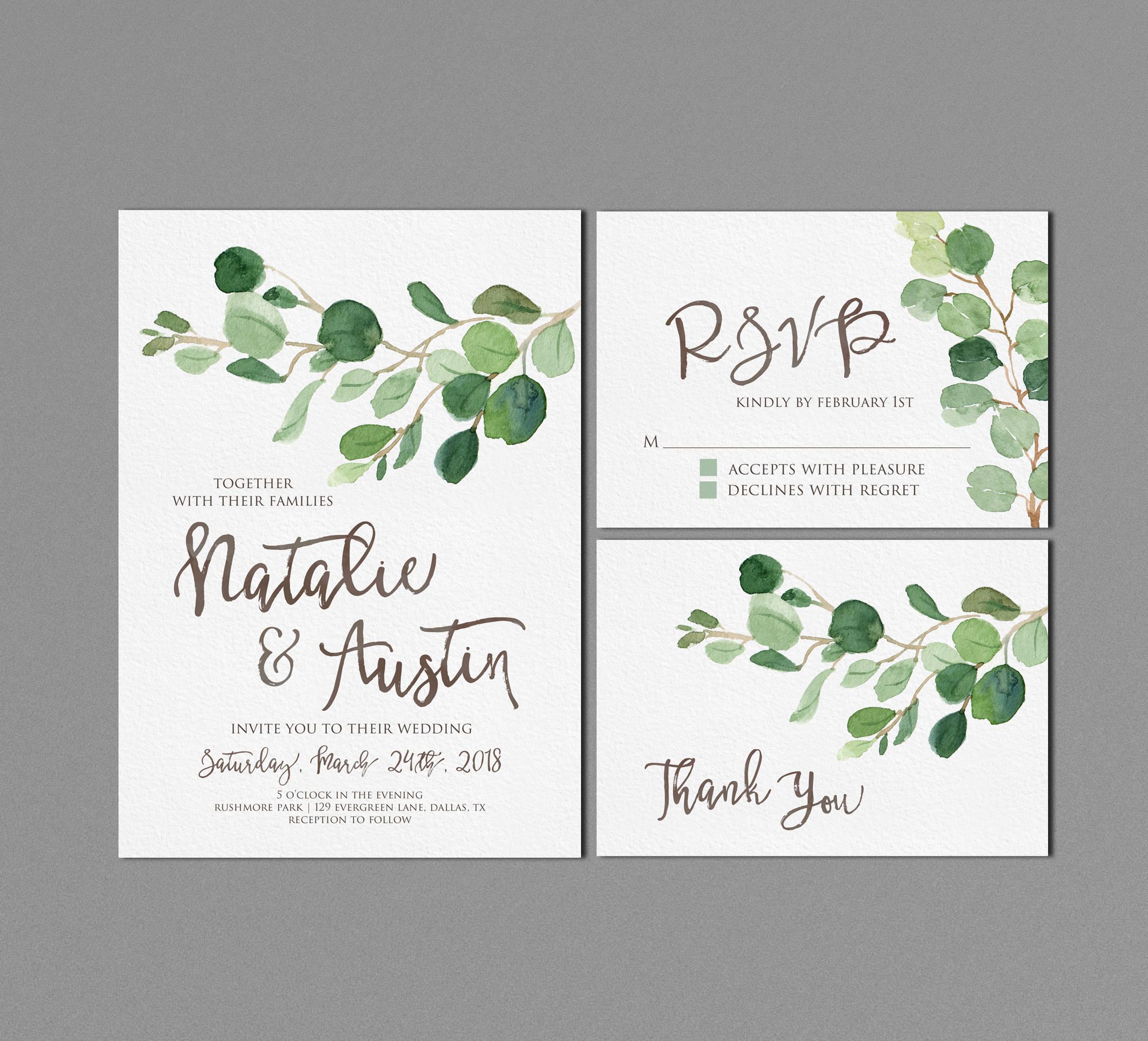 simple wedding outdoor wedding invitation