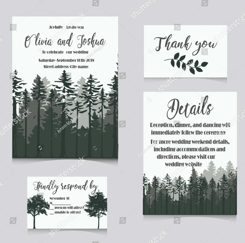 simple winter wedding invitation