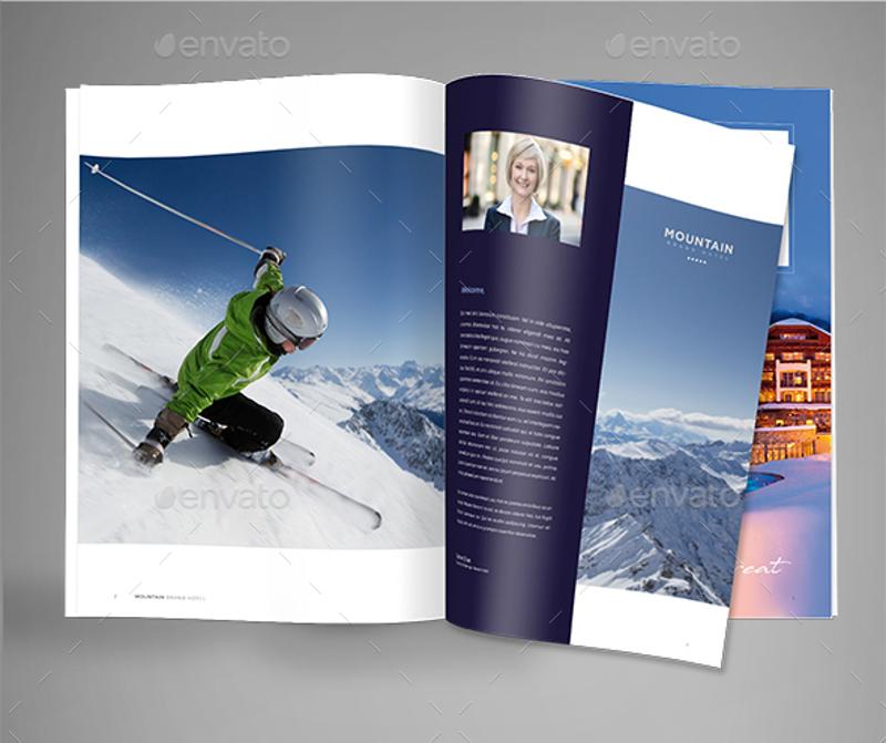 ski resort hotel brochure