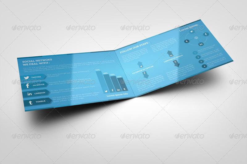 social media bi fold brochure template