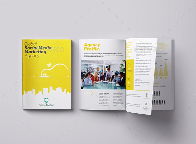 social media brochure template