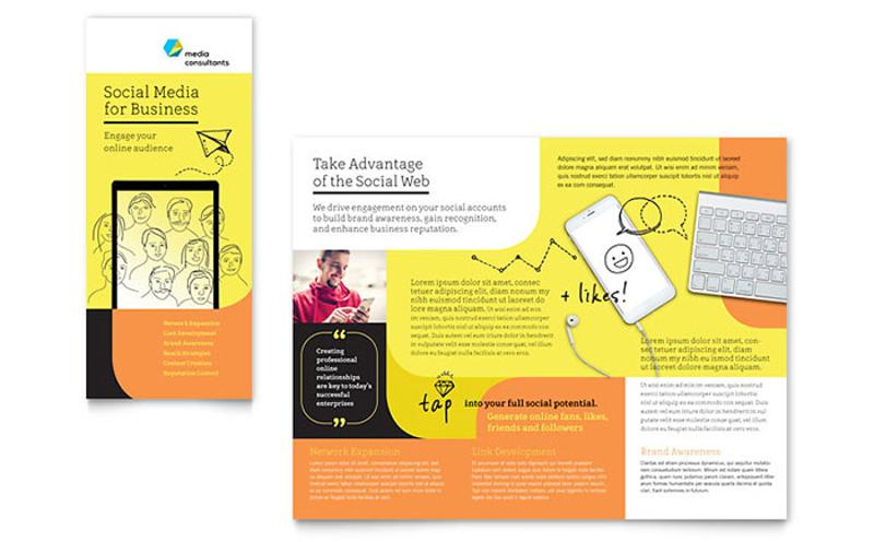 social media consultant tri fold brochure