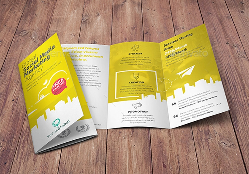 social media marketing agency brochure