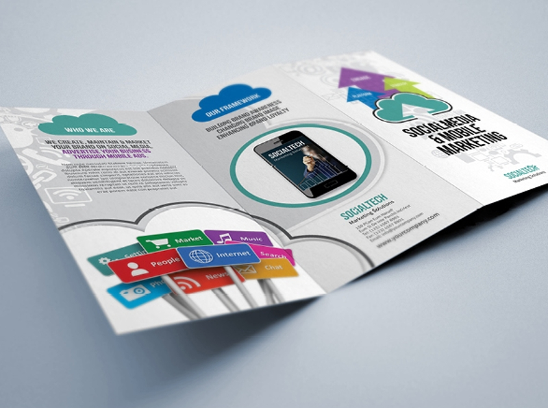 social media mobile marketing brochure