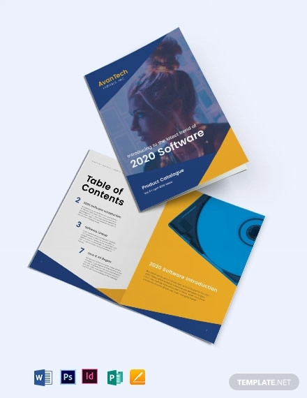 software product catalog template