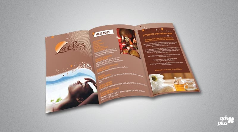 spa resort brochure
