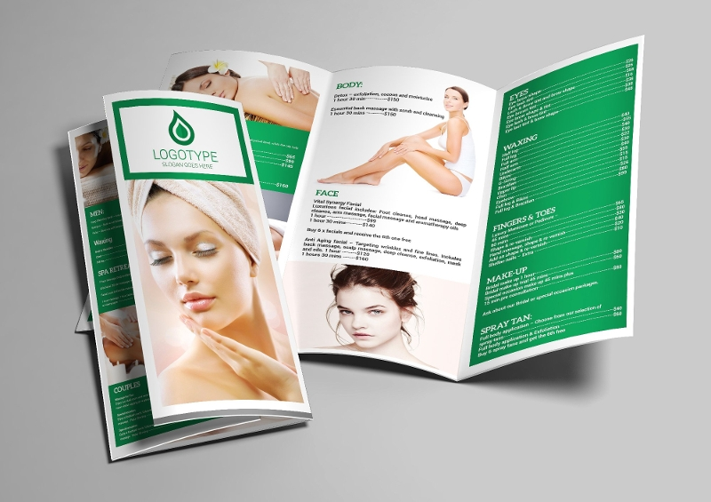 spa trifold a4 brochure