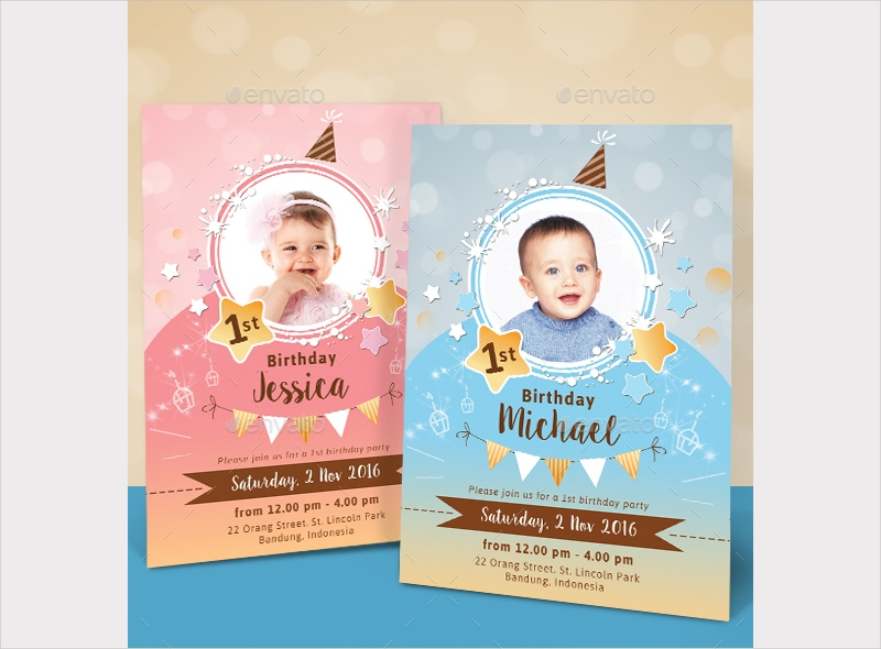 sparkling kids birthday invitation1