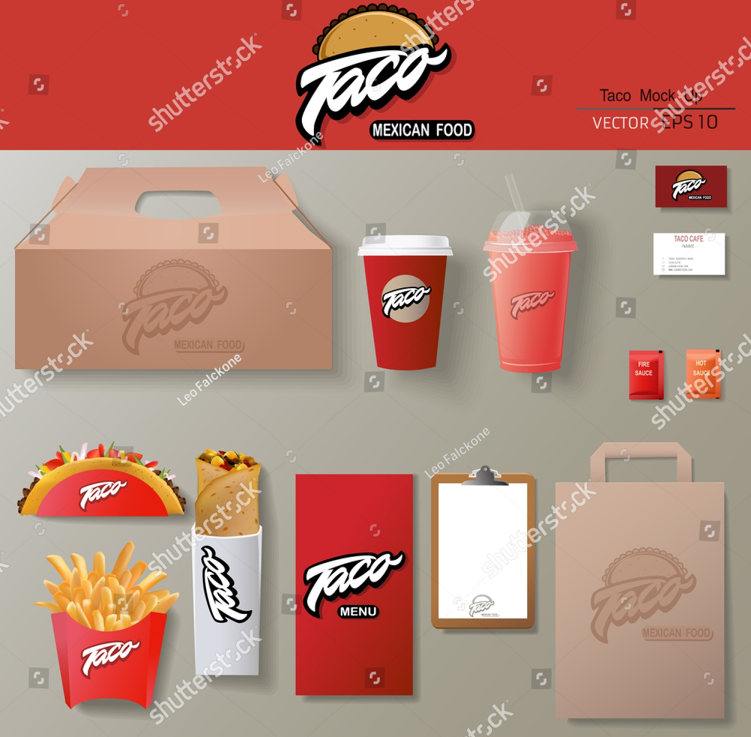 Spicy Fast Food Branding Template