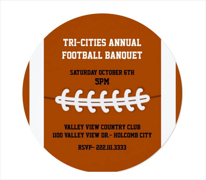 sports banquet invitation template