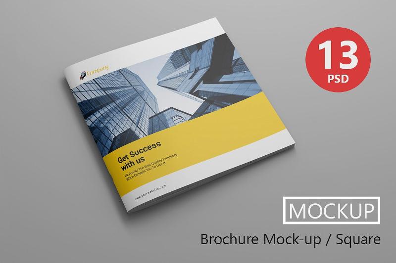 square elegant brochure