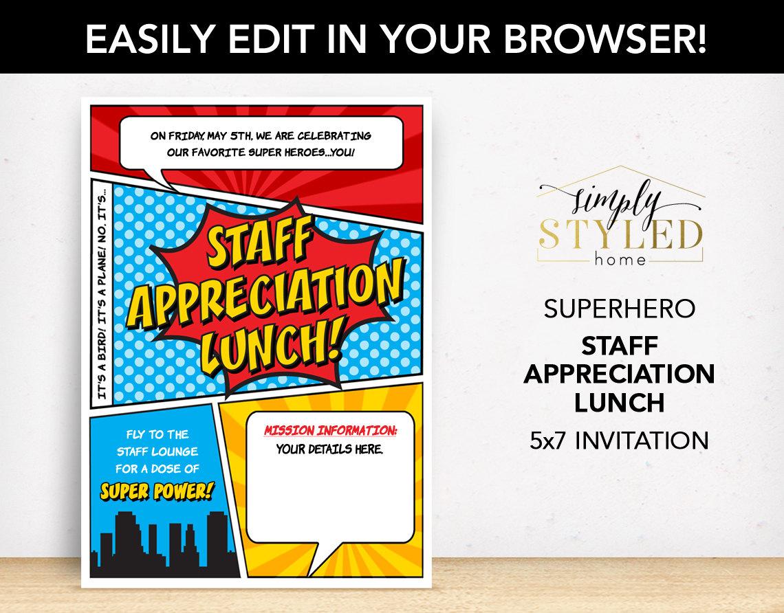 staff appreciation lunch invitation