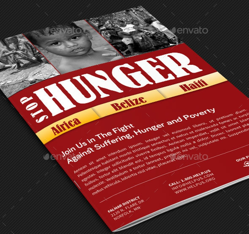 stop hunger charity brochure template