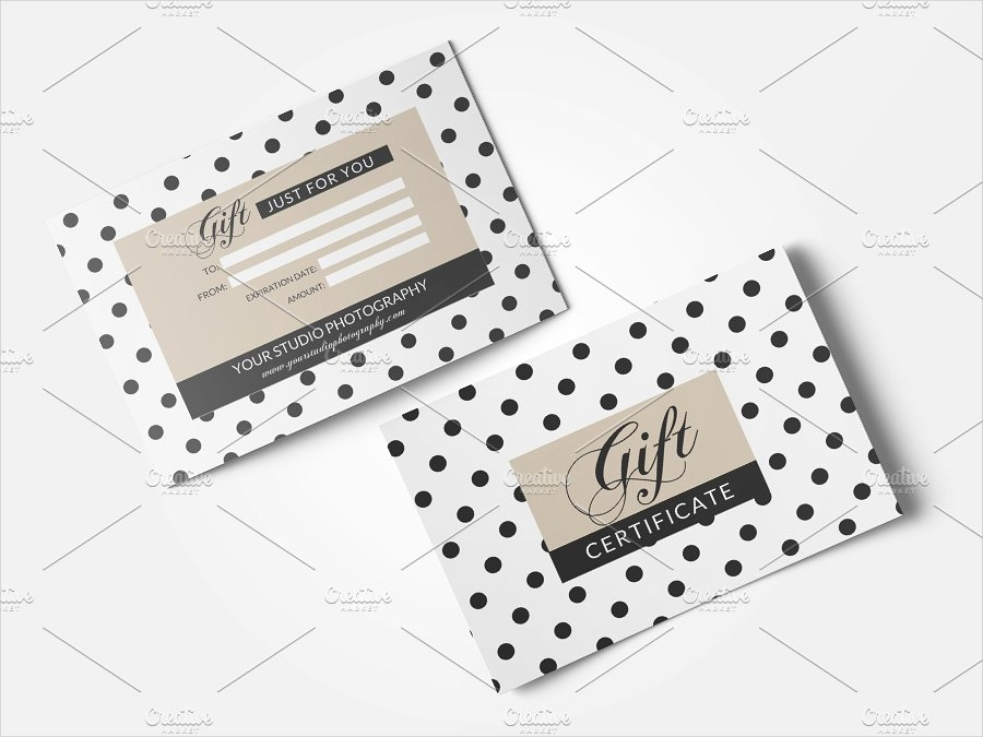studio photography gift card