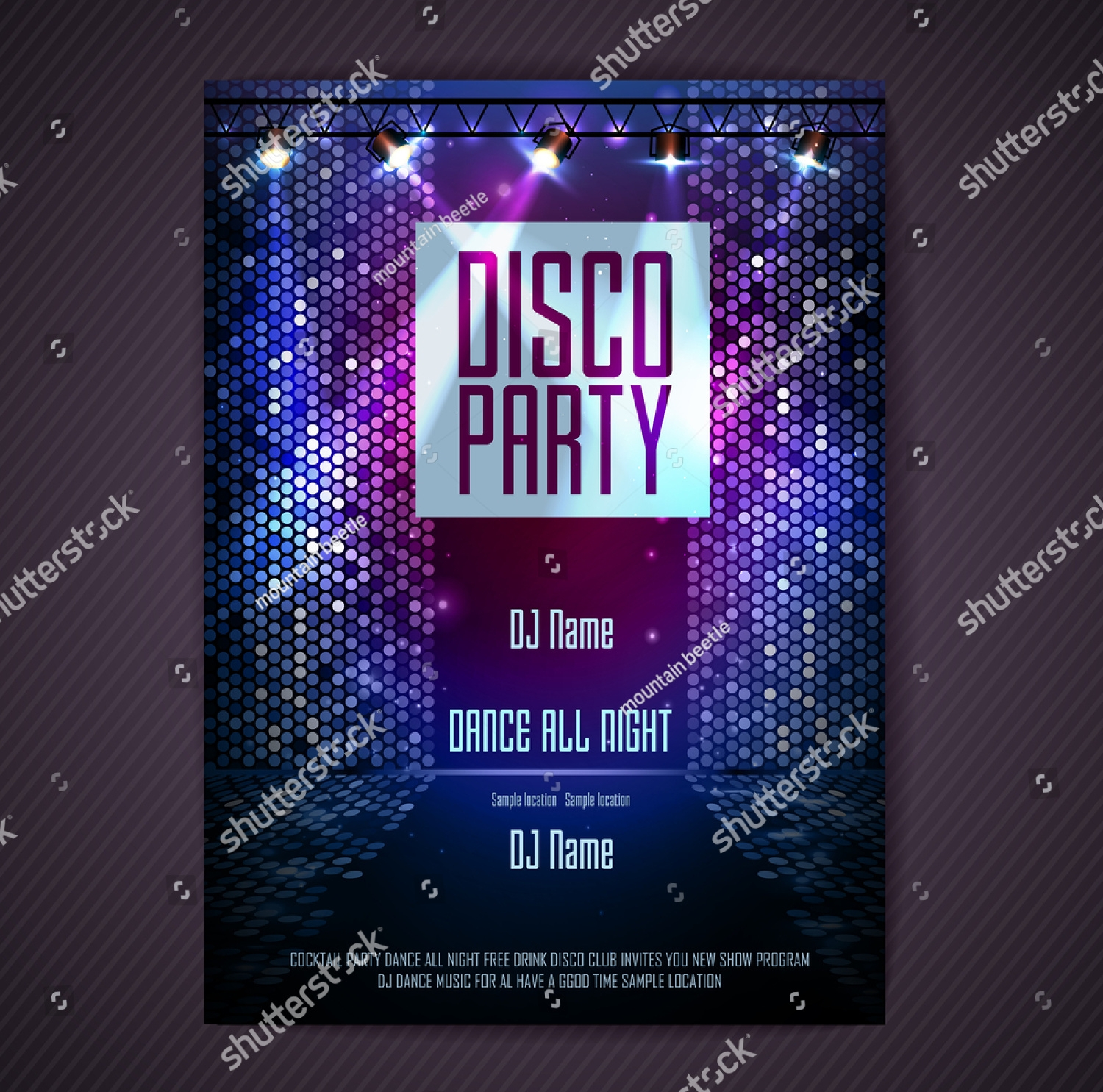 stylish dance party invitation