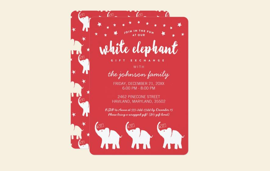 stylish holiday party invitation